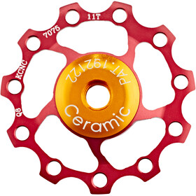 KCNC Jockey Wheel 11T Keramische Lagers, red
